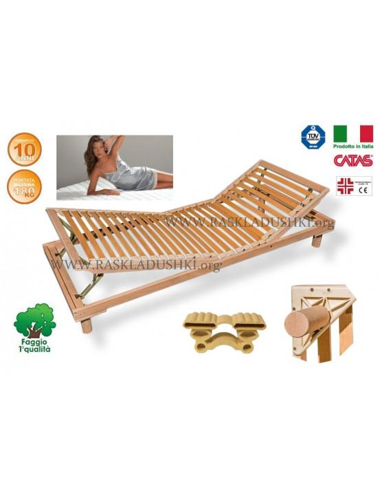 Разборное основание кровати LUXOR WOODFLEX BD-14 с регулировкой 90х190/200 Италия