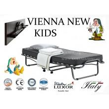 Детская раскладушка с ДСП изголовьем VIENNA NEW KIDS  140х200 с матрасом Италия