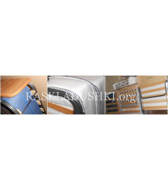 Ортопедическая раскладушка с матрасом зима-лето LUSSO 90х200 Италия