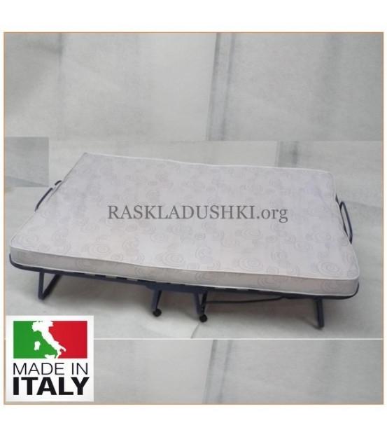 Ортопедическая раскладушка с матрасом зима-лето TOKIO DOUBLE MAX 160х200 Италия