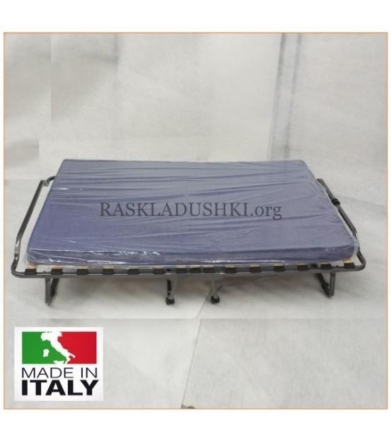 Ортопедическая раскладушка с матрасом зима-лето LIVARNO CARRO 120х200 Италия