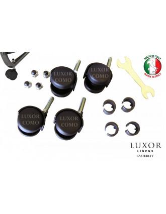 Комплет мебельных роликов и накладок для раскладушек TORINO, COMO, MONACO, COMO MINI,  OSAKA, SILVANO