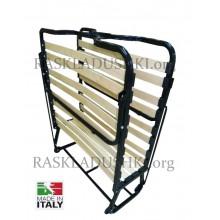Ортопедическая раскладушка VIENNA NEW 90х200 с 7-ми зонным матрасом Memory и подушкой LUXOR Италия