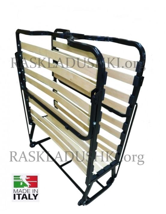 Ортопедическая раскладушка с подъемным изголовьем VIENNA NEW и 7-ми зонным матрасом Memory и подушкой LUXOR Италия