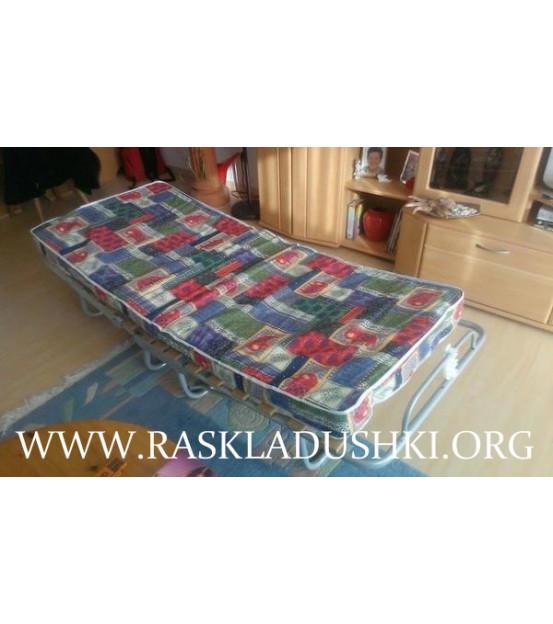 Ортопедическая раскладушка с матрасом зима-лето MONAKO 90х200 Италия