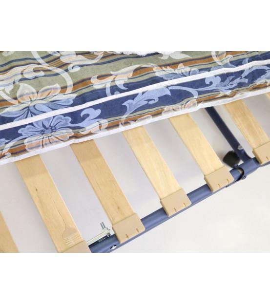 Ортопедическая раскладушка с матрасом зима-лето OSAKA 90х200 Италия