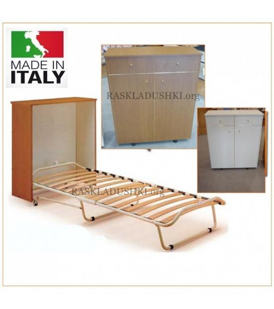 Ортопедическая тумба-раскладушка с матрасом PISOLO 90х200 Италия