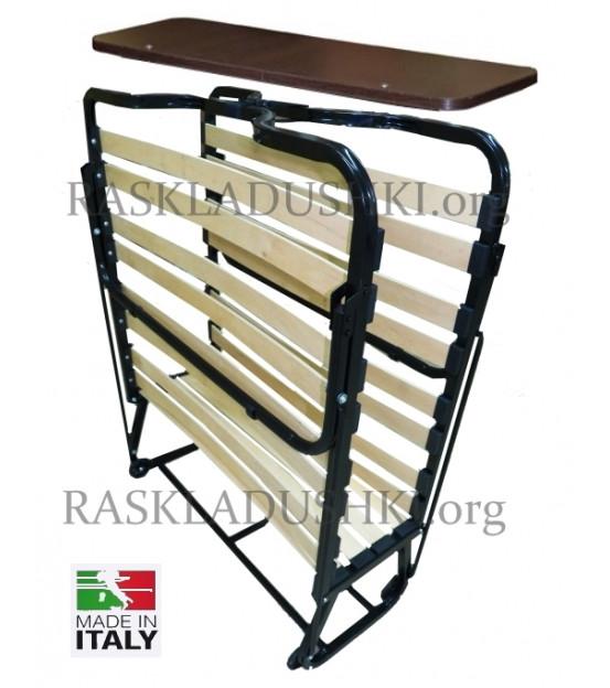 Ортопедическая раскладушка с подъемным изголовьем и матрасом зима-лето VIENNA NEW 90х200 Италия