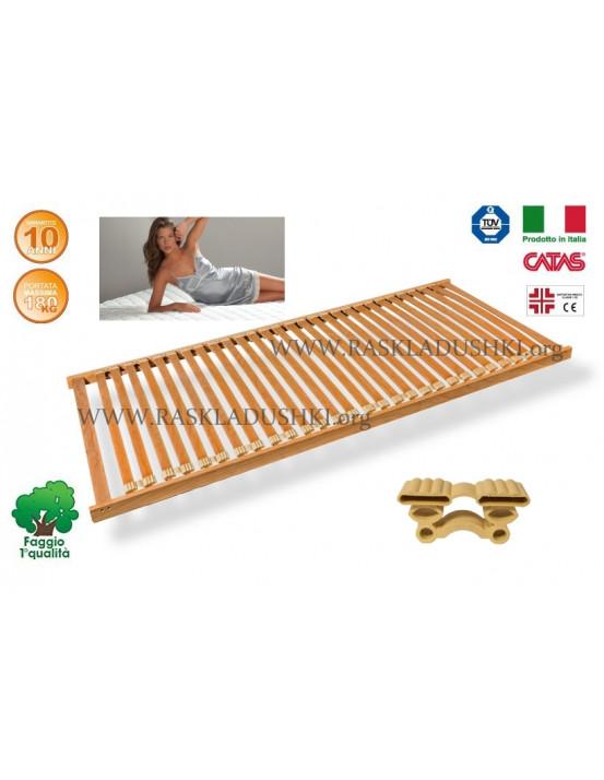 Разборное основание кровати LUXOR WOODFLEX AS-12 вкладное 100х190/200 Италия
