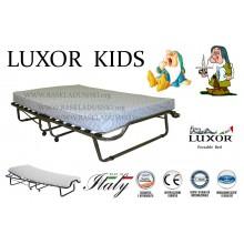 Детская раскладушка с подъемным изголовьем LUXOR DOUBLE KIDS 140х200 с матрасом Италия