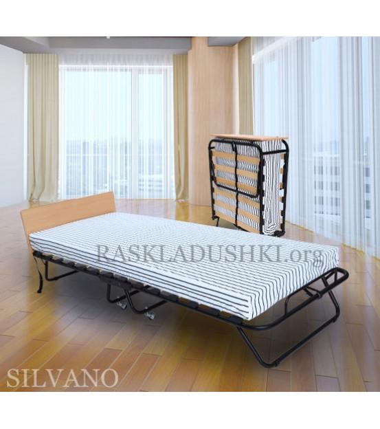 Ортопедическая раскладушка с матрасом зима-лето SILVANO 90х200 Италия