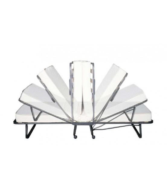Двуспальная раскладушка с матрасом зима-лето LUXOR DOUBLE LUX 180х200 Италия