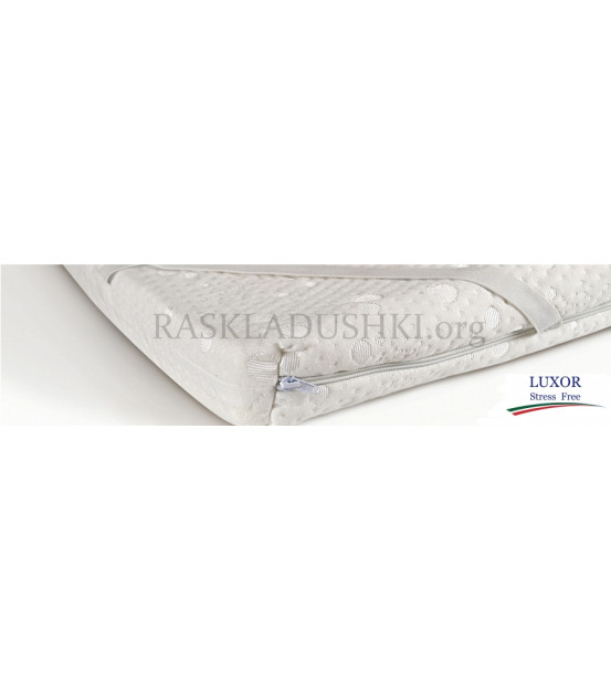 Беспружинный матрас топпер STRESS FREE Double Comfort 140x190х6 Италия