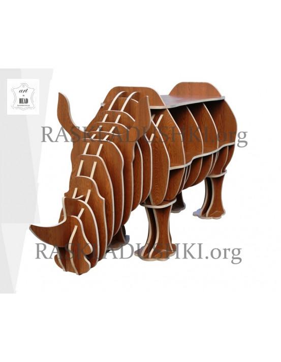 Необычная книжная полка Rinoceronte Италия