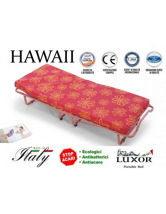 Детская раскладушка для девочек HAWAII KIDS 90х200 с матрасом  BABY CAP 10 см Италия