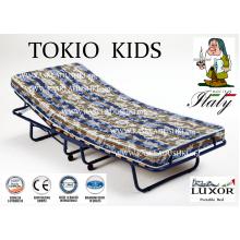Детская раскладушка c подъемным изголовьем TOKIO KIDS 90x200 с матрасом BABY CAP 10 см