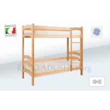Подростковая двухъярусная ортопедическая кровать  BABY CAPRI 08 Италия