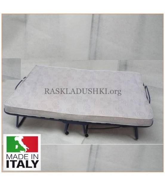 Двуспальная раскладушка с матрасом LUXOR DOUBLE 140х200 Италия