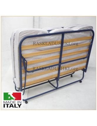Ортопедическая раскладушка с матрасом зима-лето TOKIO DOUBLE LUX 180х200 Италия
