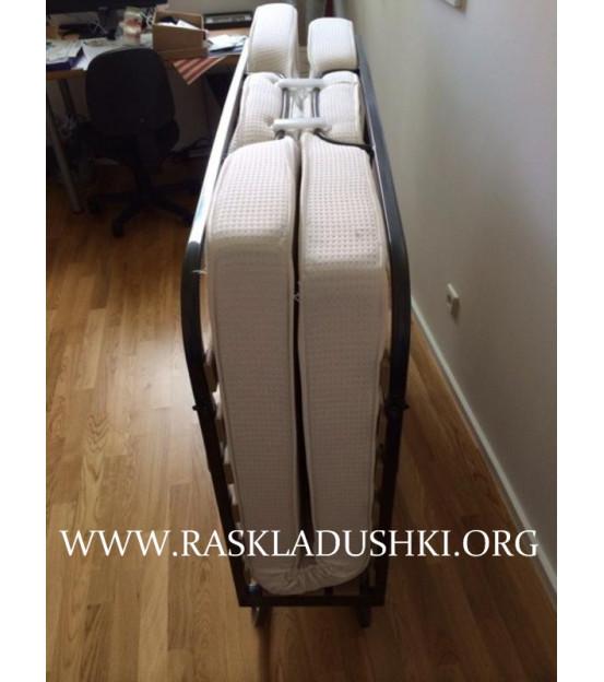 Двуспальная раскладушка с матрасом зима-лето LUXOR DOUBLE MAX 160х200 Италия