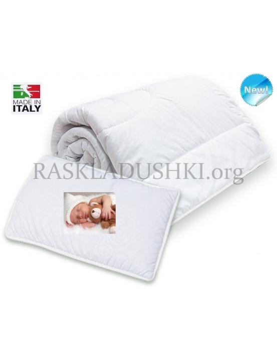 Комплект детский для кроваток BERGAMO TEDDY одеяло и подушка Италия