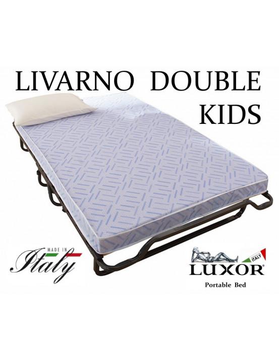 Детская раскладушка LIVARNO DOUBLE KIDS 140х200 с матрасом BABY CAP 10 см